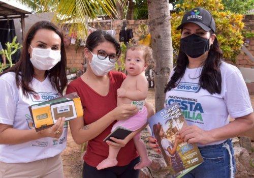 CESTA DA FAMÍLIA - Governo entrega benefício nos bairros Cauamé e Aeroporto